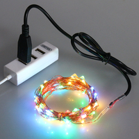 Wholesale USB and Solar Powered Christmas 200 LED Copper Wire Fairy String Lights