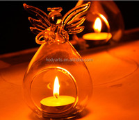 Wholesale New Design and High Quality Home and Wedding Decoration of Glass Angel Candle Holder