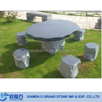Granit Naturel Jardin Pierre Champignon Table Table De Jardin Buy