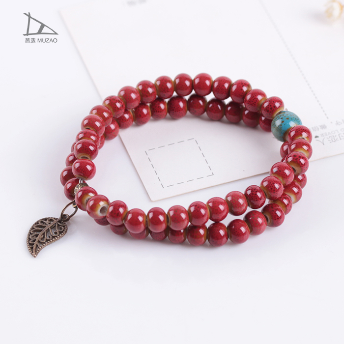 Jewelry factory top sell double stringing bead gift bracelet