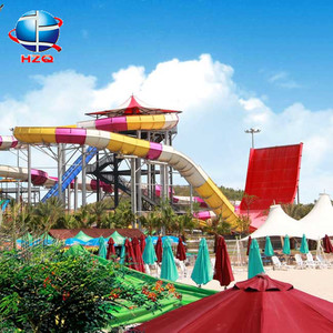 Giant fiberglass water slide for adult wholesale, giant water slide material