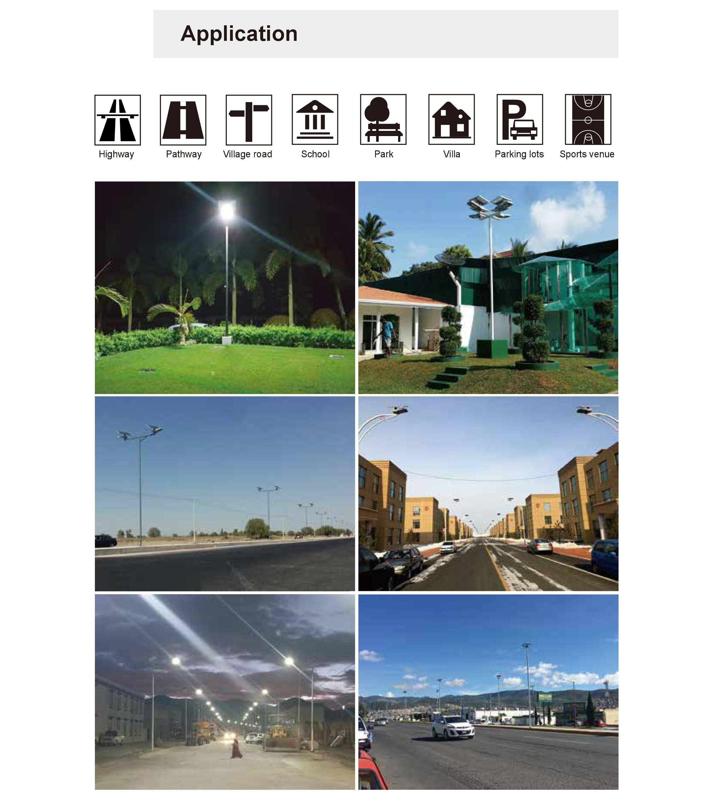 Wholesale Price New Design Super brightness 160LM/W Outdoor 60w LED Solar Street Lights