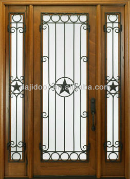 Wooden Fence Gate Doors With Iron Grilles Dj-s9000wst-2 ...