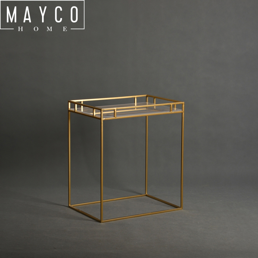 Mayco Indoor Elegant Golden Iron Plant Stand for Garden Decor