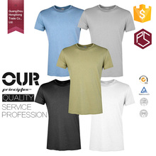 Guangzhou HongXiong Custom short sleeve Round Neck Men 100% Cotton 180 Gsm Plain T Shirt