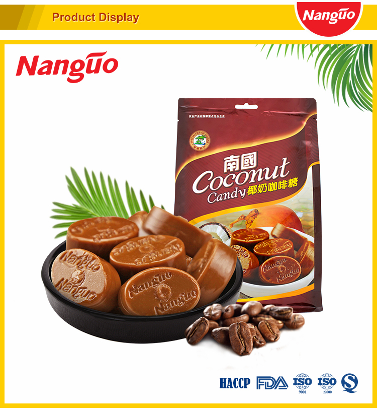 Free Sample Chewy Coconut Candy,Coffee Candy With Bag Packing And Oval  Shape - Buy Chewy Milk Candy,Oval Shaped Candy,Hard Chewy Candy Product on
