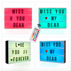 DC5V USB Battery Powered Marquee Light box New Holiday Gifts Light Up Message Board Christmas Birthday Set LED Cinema Ligh box