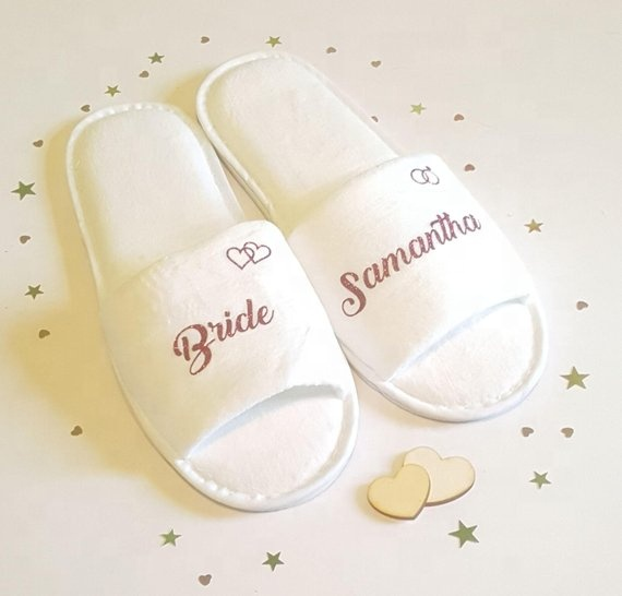 New Design Personalized Indoor Disposable Bridal Party <strong>Slipper</strong>