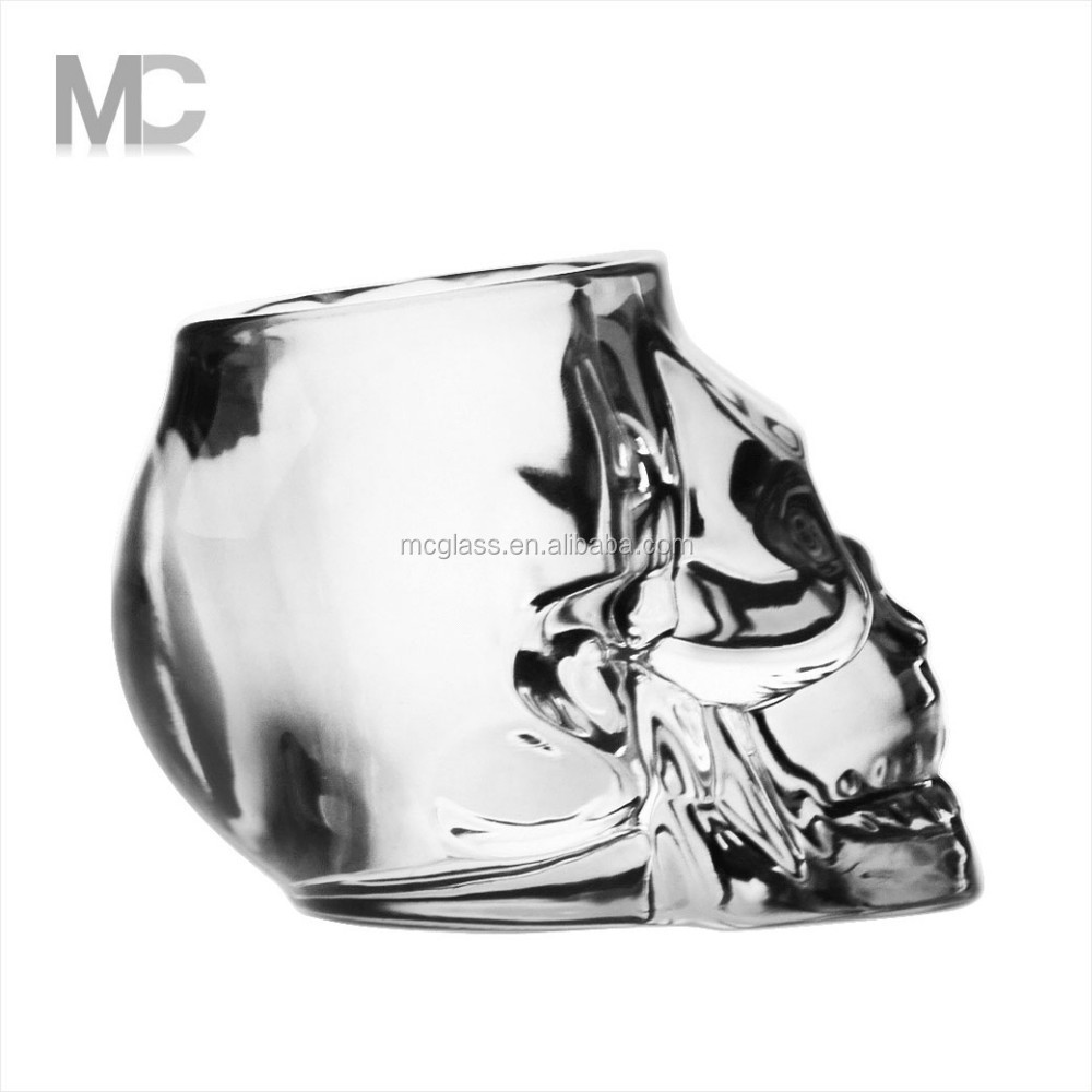Wholesale Wedding Home Decoration Skull Shaped Votive Tealight Glass Candle Holder