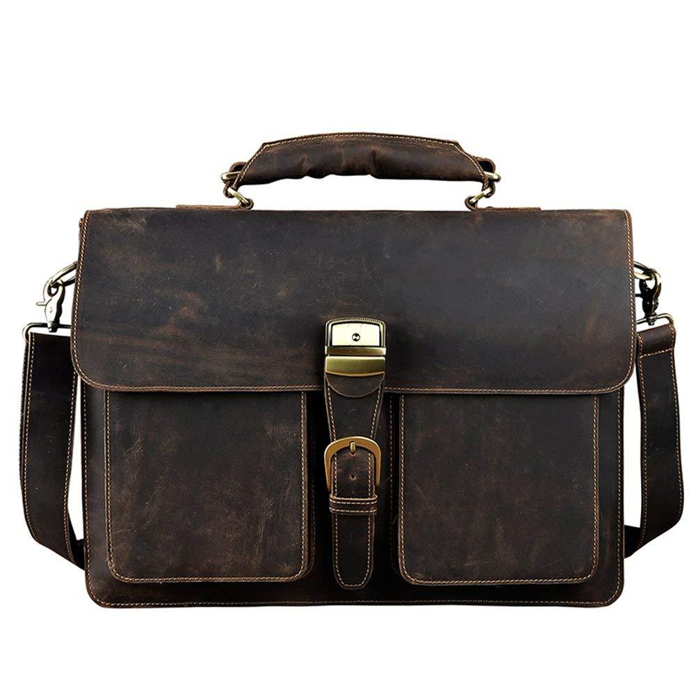 49c9f18fb5 Get Quotations · Genda 2Archer Genuine Leather Laptop Briefcase Attache  Suitcase Satchel Messenger Bag