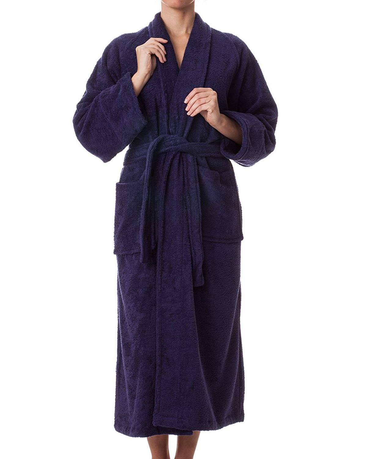 5daa1fe886 Get Quotations · eLuxurySupply Unisex Robes - 100% Long Staple Cotton  Hotel Spa Plush Robes - Classic