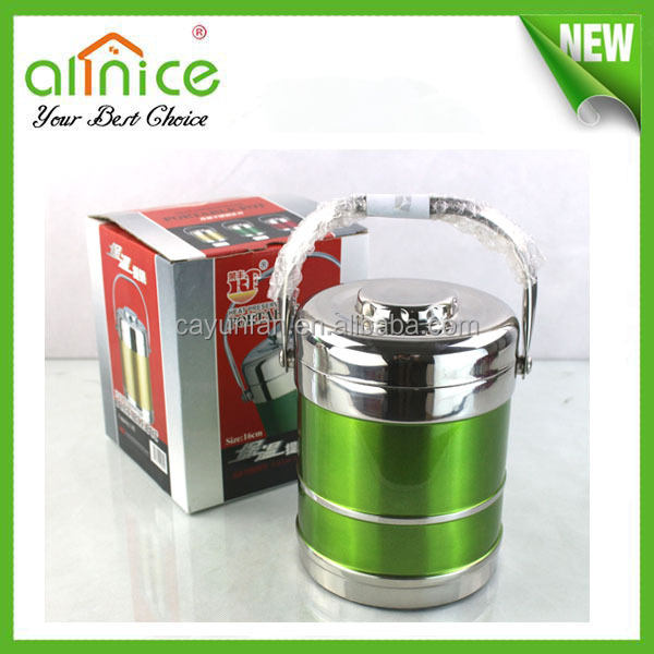 thermos stainless steel food container/hot box for food storage/insulated box for food storage and transportation