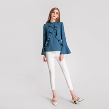 a03a4b35211 Личность Дизайн одежда высшего качества повседневное велюр с длинным  рукавом для девочек Топ Блузка