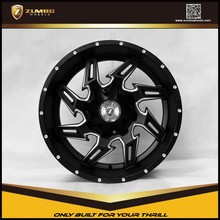 "ZUMBO-A0094 Semi Matt Black Mill Spoke Car 20"" 22"" 24"" 26"" Aluminium Alloy Wheel Rims"