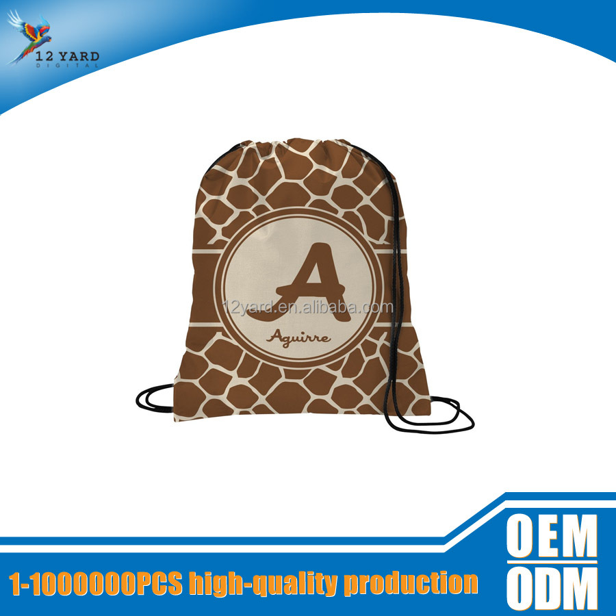 Custom penalized logo advertising recycled cool sling drawstring backpack