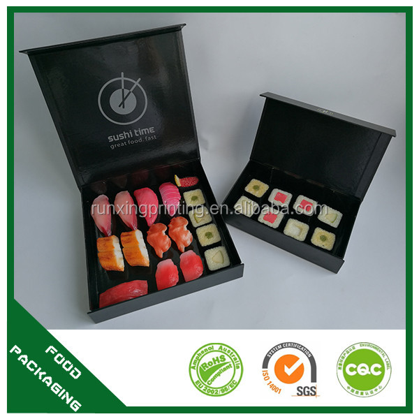 paper take away custom design sushi container VIP sushi box with magnetic