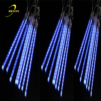 led meteor shower light 30cm50cm80cm tube rain drop christmas lights