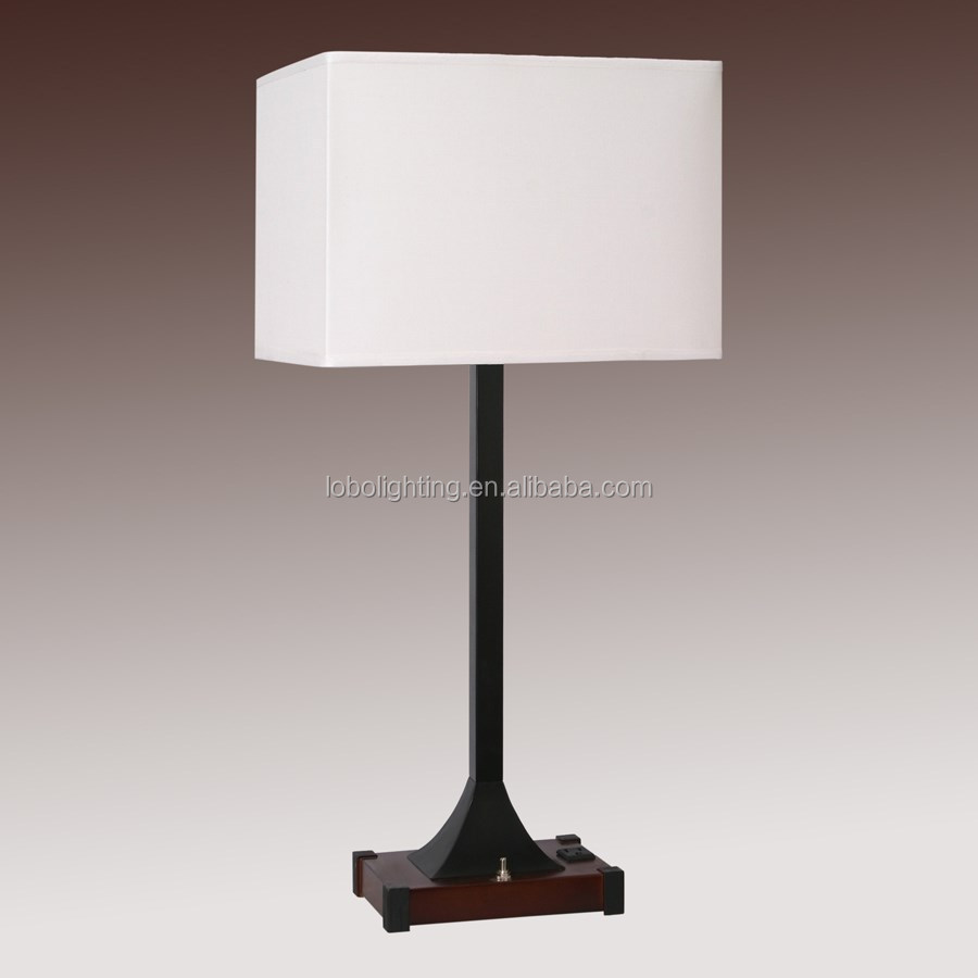 21 Brushed Nickel Table Lamp With On Off Push Button Base Switch
