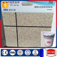 Weather Resistant Liquid Exterior Texture Granite Stone Building Wall Paint