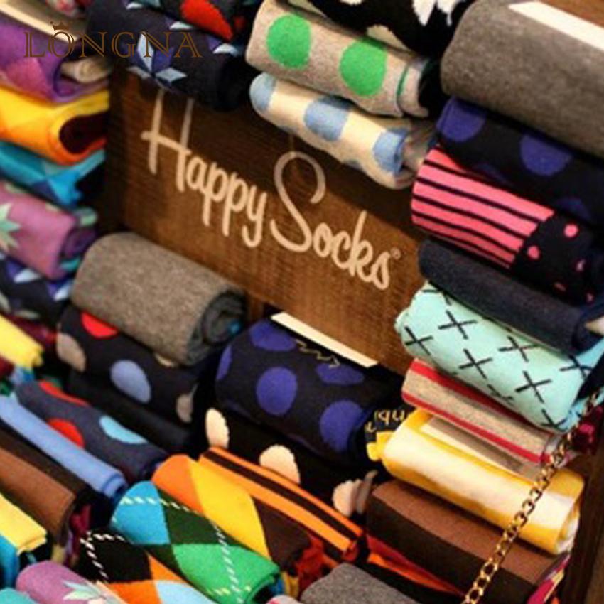 Nouveauté Qualité Différents Types Faits Sur Commande Heureux Chaussettes Hommes Chaussettes Colorées Heureux Gros 2019