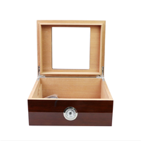 Fashion Handmade High Quality Wooden Cigar Box With Transparent Glass