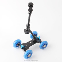"100% New 11"" Adjustable Friction Articulating Magic Arm + Mini Desktop Camera Rail Car Table Dolly Car Video Slider"