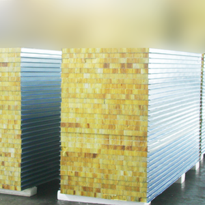 High density rockwool sandwich panel osb sip panel interior decorative metal wall panel