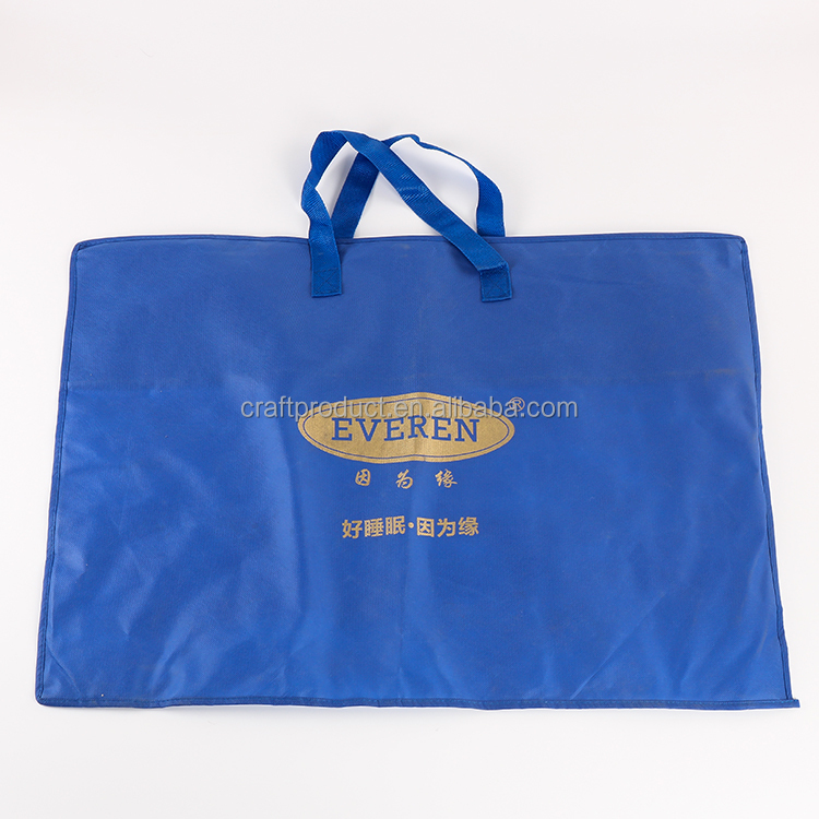 Hot Selling Non-woven Pillow Carrier Bag New Style Household Storage Zipper Bag For Pillow