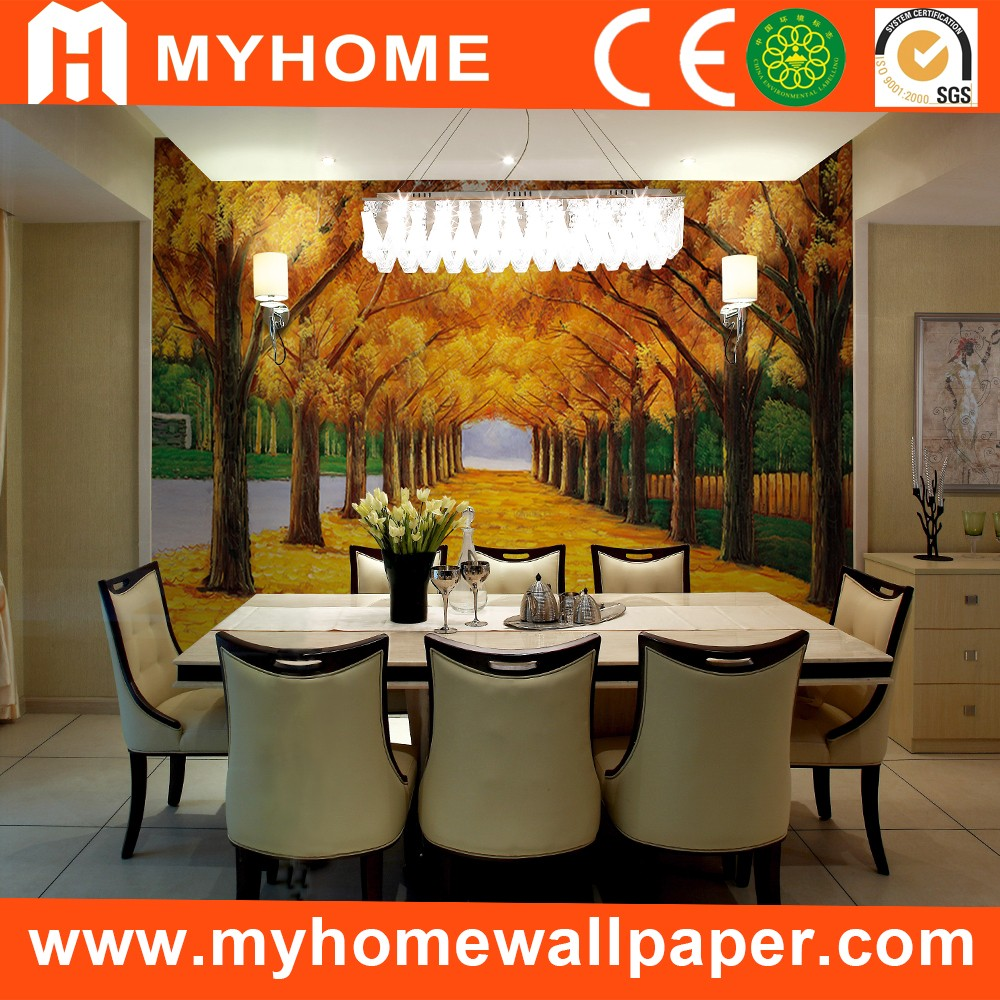 High Quality Fashion European Style PVC 3d Mural Wallpaper