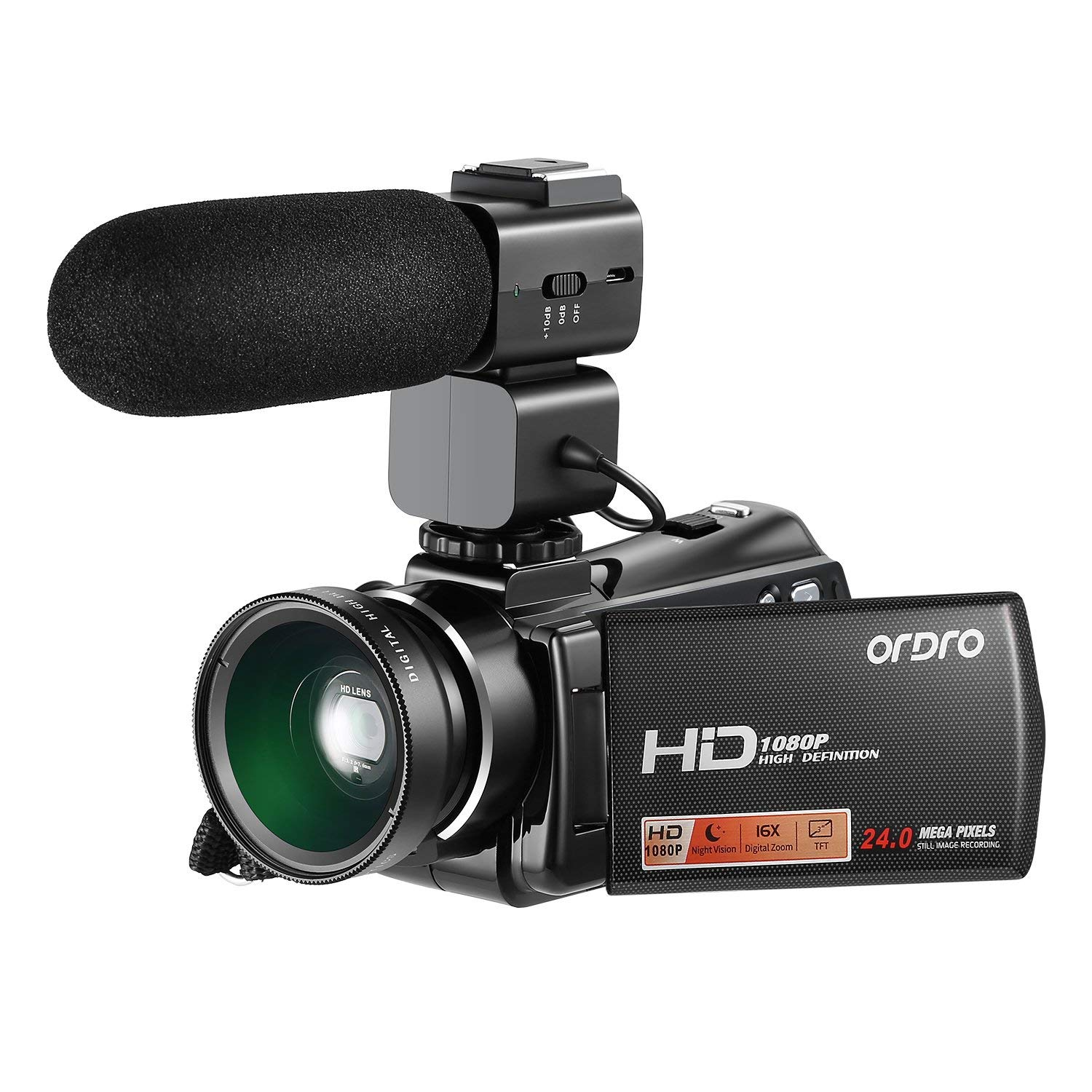 Sanyo Xacti DMX-HD1 Camcorder External Microphone Vidpro XM-AD5 Mini Pre-Amp Smart Mixer with Dual Condenser Microphones for DSLR/'s with SDC-26 Case Video Cameras and Phones