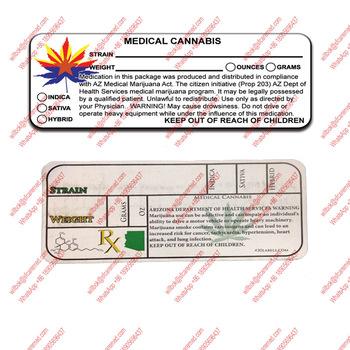 Az 420 Rx Medical Arizona Medical Marijuana Compliant Labels Stickers - Buy  Rx Medical Marijuana Labels,Medical Marijuana Labels,420 Stickers Product
