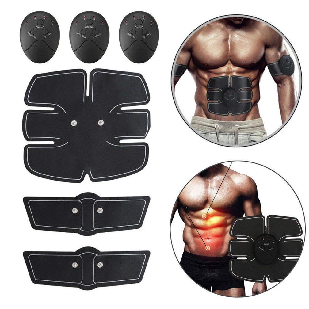 Abdominal Training Smart ABS Stimulator Fitness Gear Muscle Toning Belt ABS Fit EMS ABS Toner Body Muscle Trainer Unisex Abdomen/Arm/Leg Training
