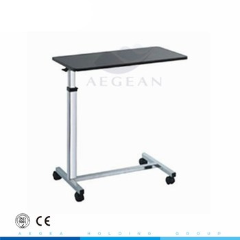 AG-OBT014 patient room hospital bed dining table with wheels for sale