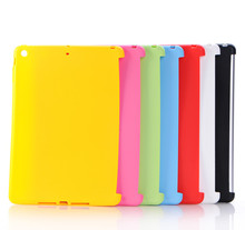 For 6.5 inch Wholesale ultra thin tpu Colorful case for iPad Air 2 /Solid color tpu Tablet cover case for iPad