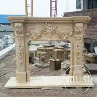 luxury indoor decoration hand carved outdoor gas fireplace