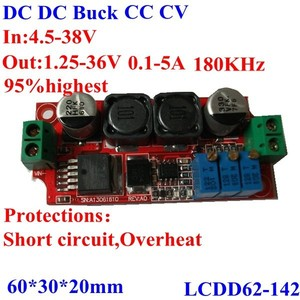 dc-dc step down adjustable power supply module 4.5-38v to 1.25-36v CC CV 36v 24v 12v to 12v 6v 5v 3 buck converter
