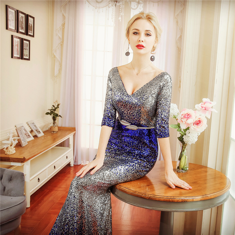sexy mermaid party sleeveless long dresses woman evening dresses