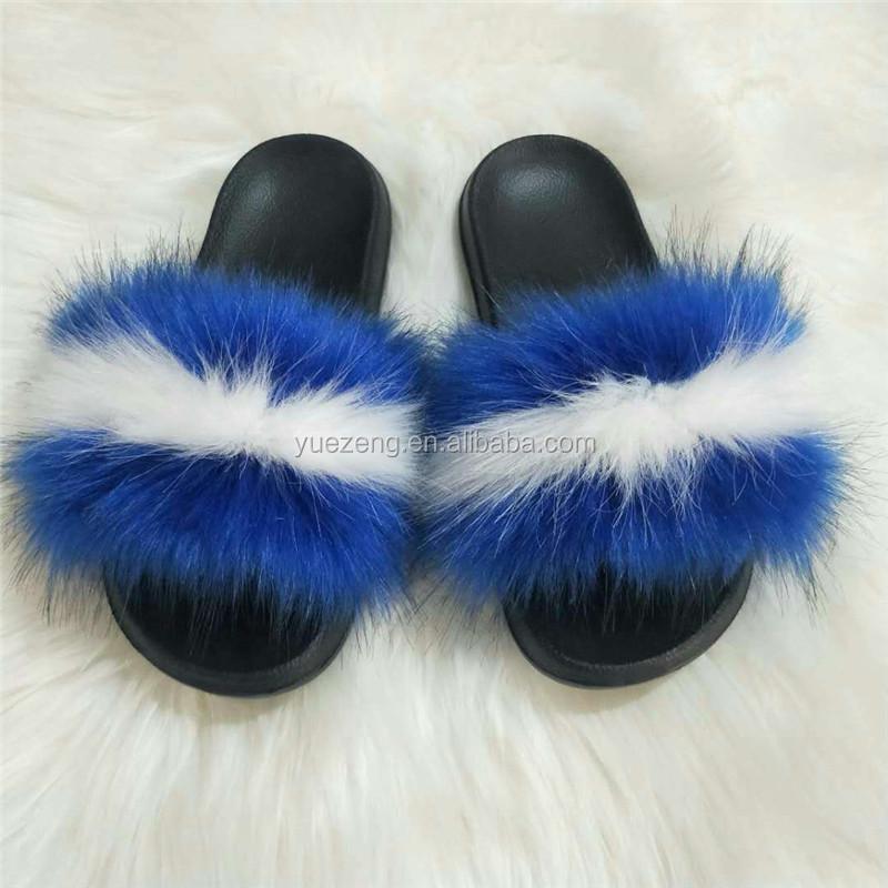 slide sandal slippers women furry slides