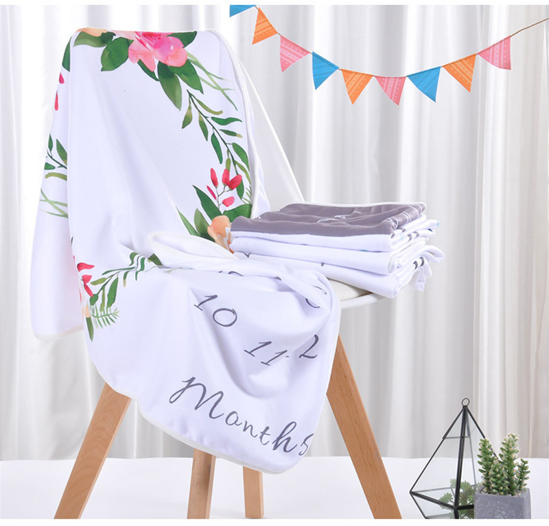 Wholesale Baby Blanket Newborn Swaddle Soft Flannel Bathing Towels Printed Wrap DIY Baby Photography Props Blanket 70x100cm, Customized color and design