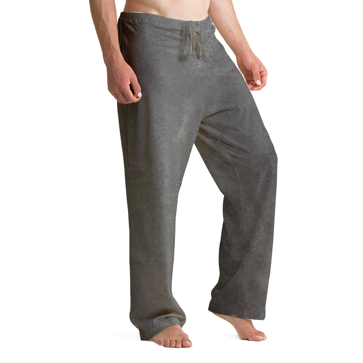 1286ab5934a7 Cottonique Mens Drawstring Lounge Pants Clothing, Shoes & Jewelry