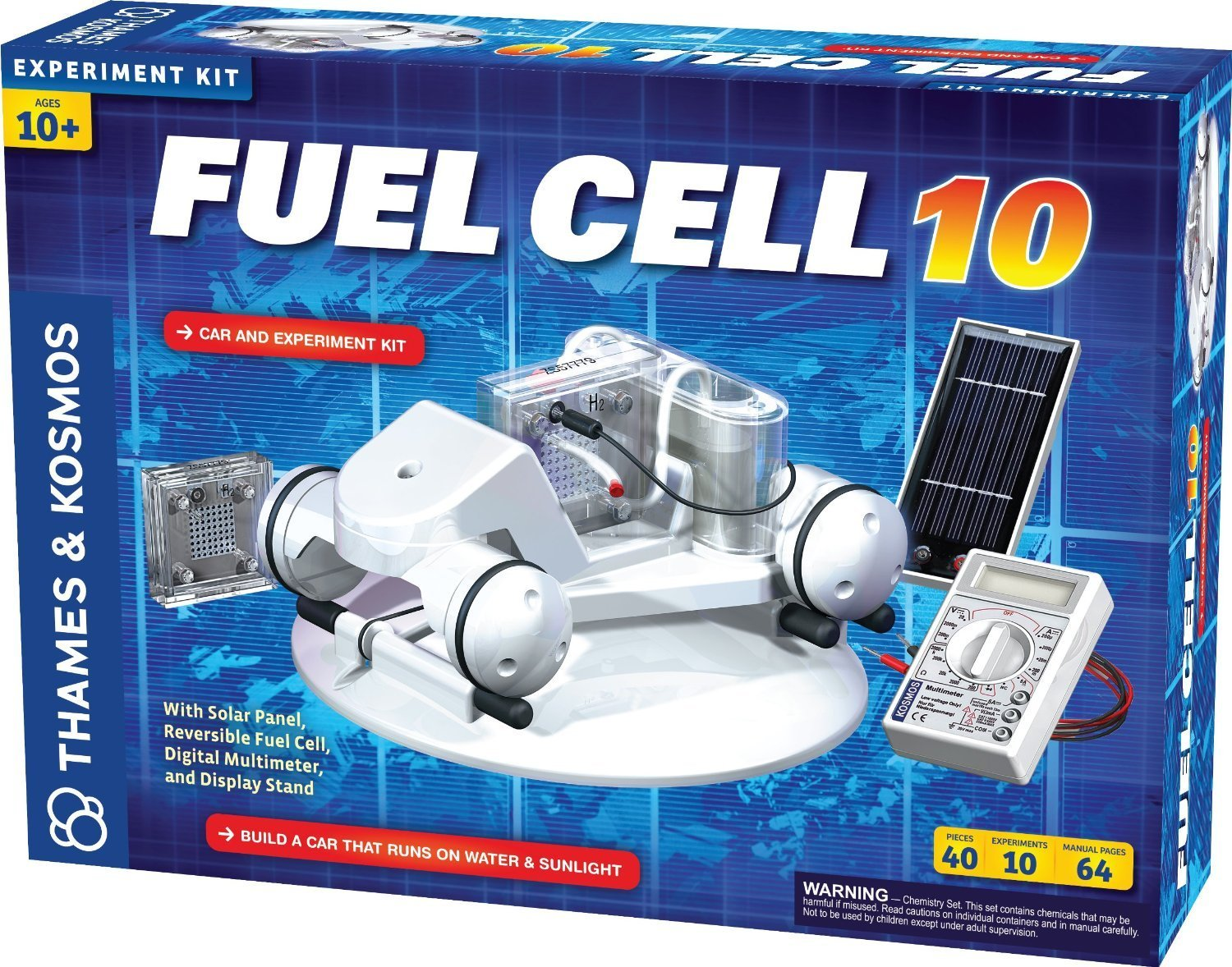 Science Fuel Cell Play Set with Plastic, Metal, Wire, Solar Cell, Fuel Cell, Rolling Display Stand & More
