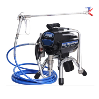 Electric high pressure airless wall spraying machine for painting