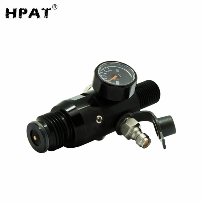 PCP Paintball Airsoft HPA Tank Regulator Valve 5/8-18UNF Thread 4500psi Output Pressure 2200psi