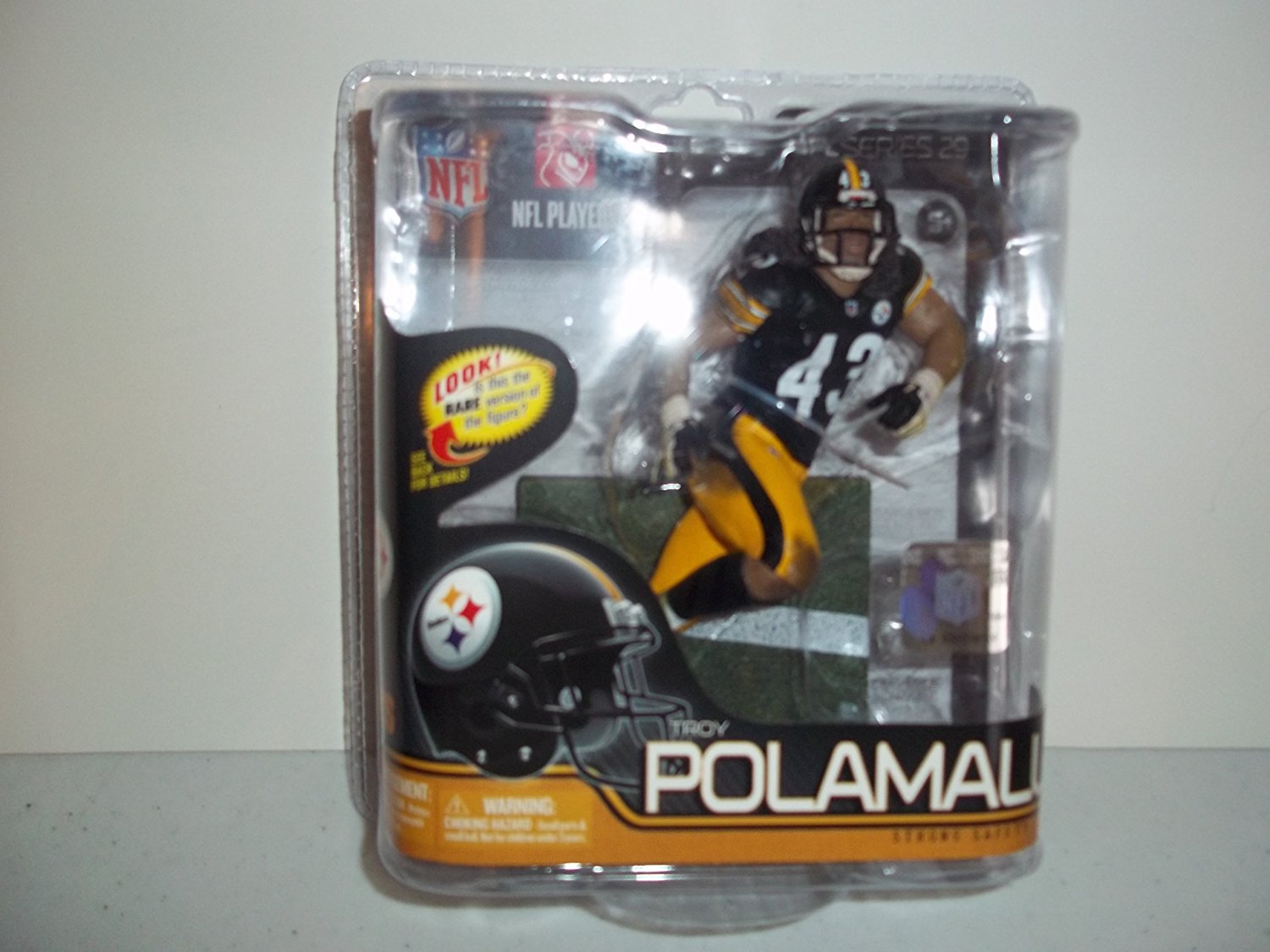 7769f3e78 Get Quotations · Pittsburgh Steelers McFarlane Troy Polamalu - Common One