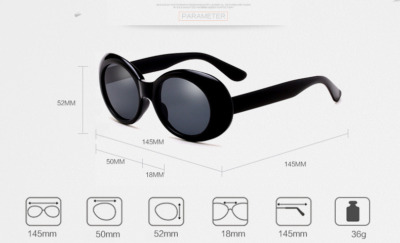 Classic Retro Oval Ladies Sunglasses Fashion Women New Style Summer Sun Glasses