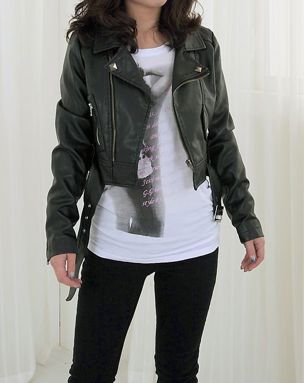 Women Faux Leather Biker Jacket - Buy Faux Leather Jacket Product ...