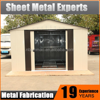 Attrayant Easy Assembly Metal Garden Shed Small Outdoor Prefab Tool House