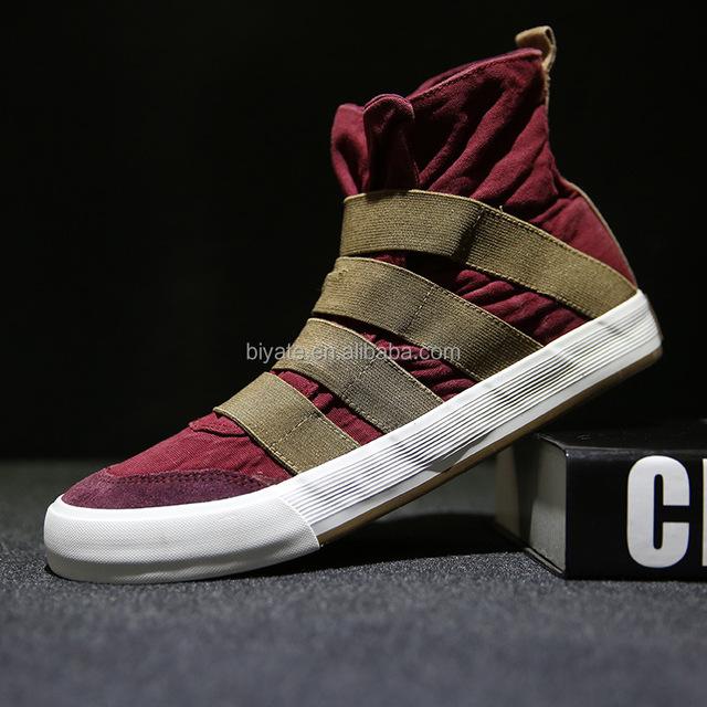 Mannen Mode Hiphop Dance Canvas Schoenen Hoge Casual Schoenen Groothandel Buy Mode Hoge Hak Schoenen,Hoge Top Dans Schoenen,Canvas Hoge Hak Schoen