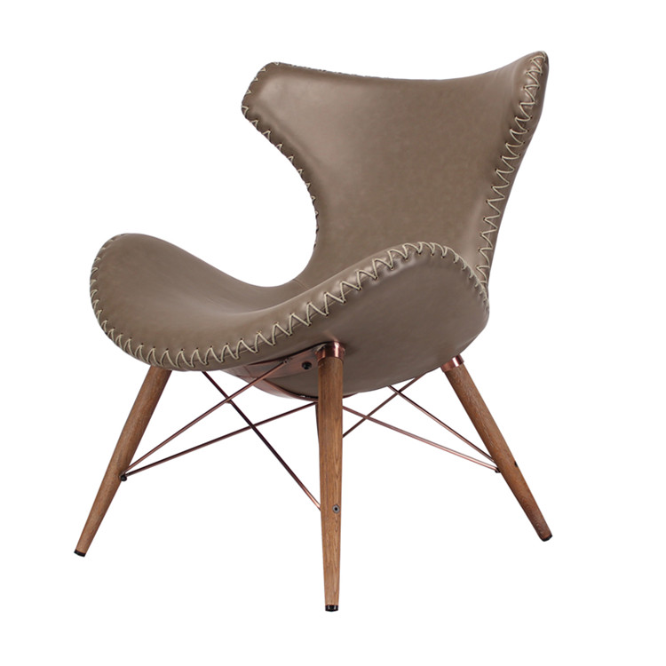 Royal style meeting room chair with wooden legs