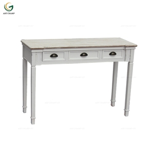 Chinese style long wood console table with 3 drawer